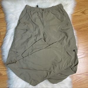 The North Face Tan Zip Off Hiking Pants Size Small